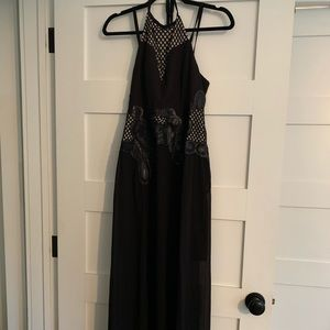 Lumber black Maxi dress